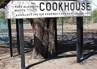 Cookhouse - Cookhouse station sign