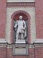 Statue of Balassa, Transplant and Surgery Clinic, Semmelweis University, 2016 Palotanegyed.jpg