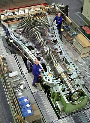 Turbomachinery - A steam turbine from MAN SE subdidiary MAN Turbo