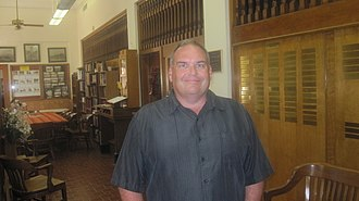 Childress County Heritage Museum - Executive director Steve Craig shown in the museum lobby