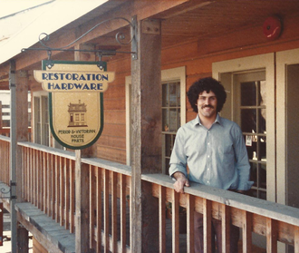 Restoration Hardware - Stephen Gordon, founder of Restoration Hardware at the original Eureka, CA headquarters in 1981.