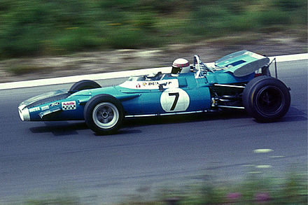 Jackie Stewart, 'The Flying Scot', at the Nurburgring with the Matra - Cosworth that took him to the Formula One World Championship title in 1969 StewartJackie19690801MatraFord.jpg