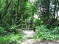 Stile at junction of footpath with Novington Lane - geograph.org.uk - 1314814.jpg
