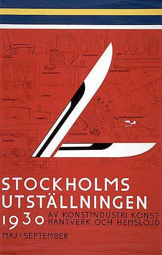Stockholm Exhibition (1930) - Image: Stockh 1930 2