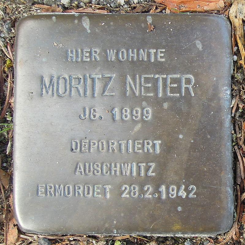 Stolperstein Bad Bentheim Dorfstraße 21 Moritz Neter