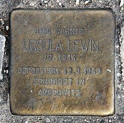 Photo of Ursula Lewin brass plaque
