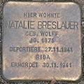 Stolperstein Georg-Wilhelm-Straße 5 Natalie Breslauer.JPG