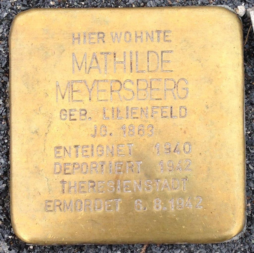 Stolperstein Obernkirchen Vehlener Straße 61 Mathilde Meyersberg