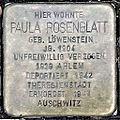 Stolperstein Paula Rosenblatt (Wetzlarer Straße 31 Butzbach).jpg