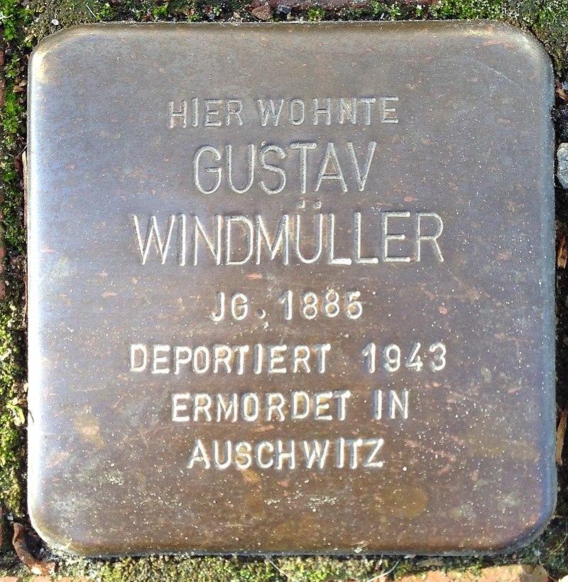 Stolperstein Rodenberg Lange Straße 23 Gustav Windmüller