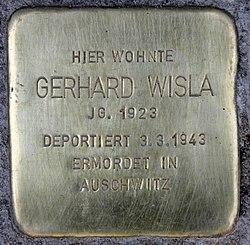 Photo of Gerhard Wisla brass plaque