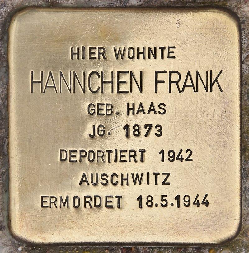 Stolperstein für Hannchen Frank (Maßbach).jpg