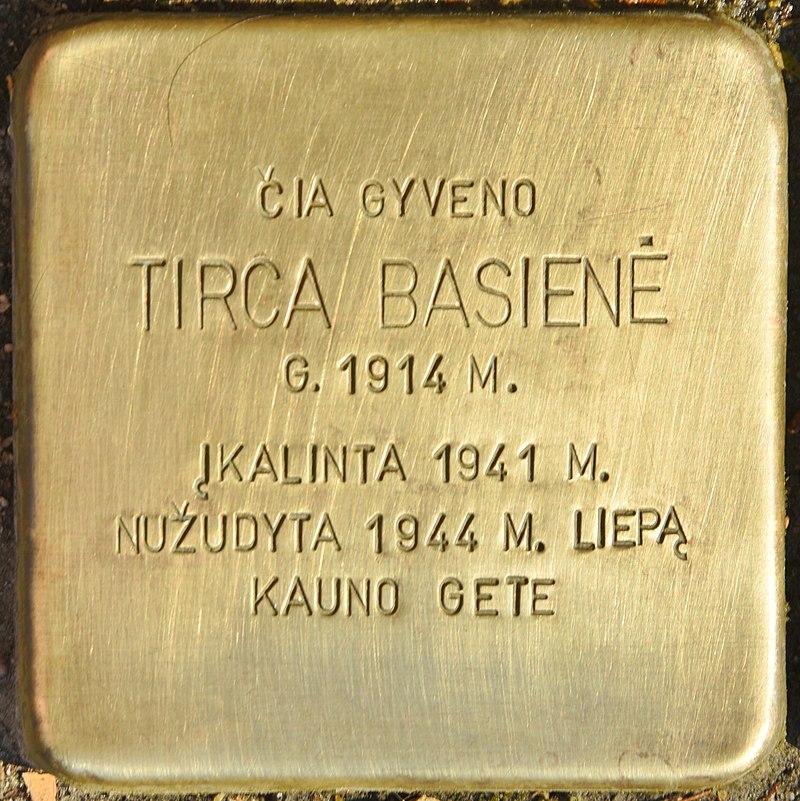 Stolperstein für Tirca Basiene (Kaunas).jpg