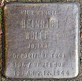 Stumbling block for Heinrich Wolff (Frankstrasse 12)
