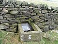 Stone trough in wall. - geograph.org.uk - 152867.jpg