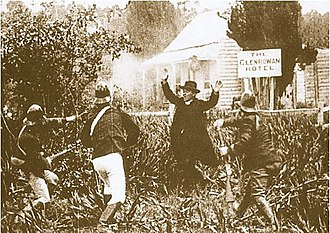 The Story of the Kelly Gang - The police descend on Glenrowan.