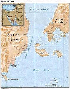 Map of Strait of Tiran
