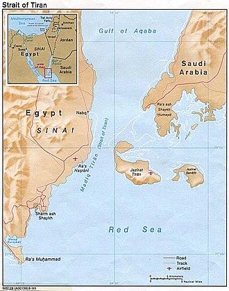 Straits of Tiran - Image: Strait tiran 83