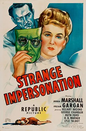 Strange Impersonation - Theatrical release poster