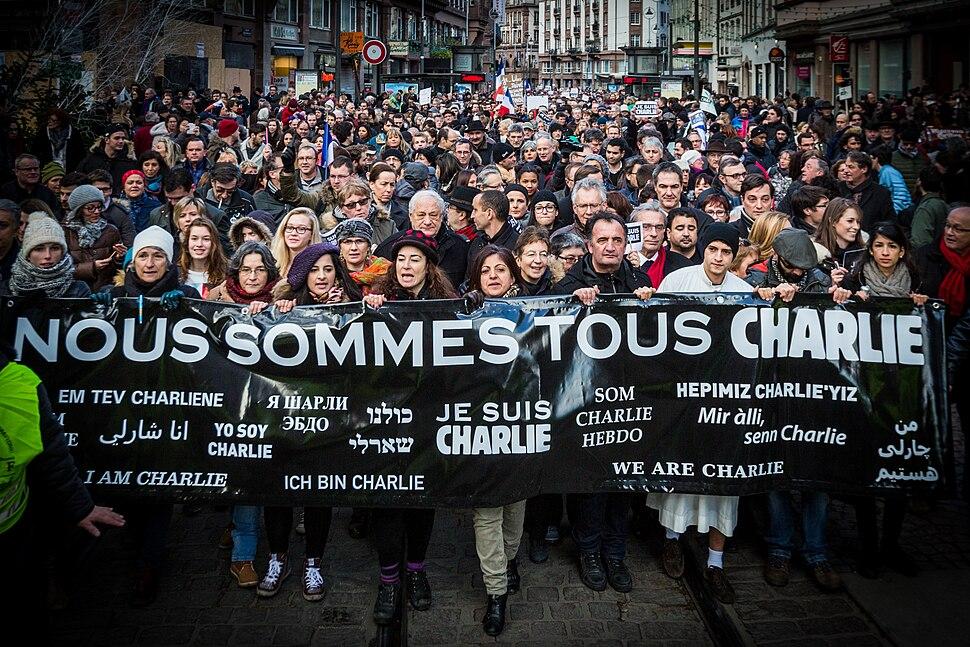 Strasbourg manifestation Charlie Hebdo 11 janvier 2015-2