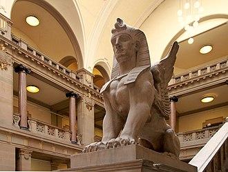 Palais de Justice, Strasbourg - Sphinx in great hall