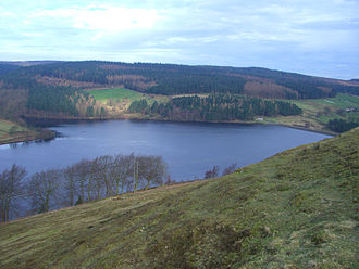 Strines Reservoir - Seen from the high ground to the south at Boots Folly