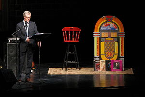 Stuart McLean - Stuart McLean on stage at the Centennial Concert Hall in Winnipeg, Manitoba