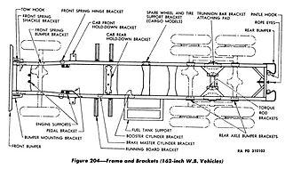 Studebaker US6 2½-ton 6x6 truck - Long wheelbase frame