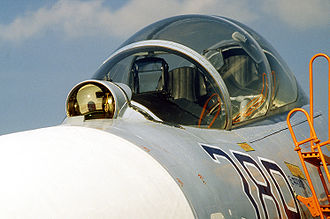 Laser rangefinder - An OLS-27 IRST with laser rangefinder on the Sukhoi Su-27