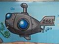 Submarine, street art 2016 at Fonyód train station in Hungary.jpg
