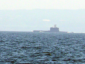 Ula-class submarine - An Ula-class submarine near Bornholm Island, Baltic Sea in March 2007