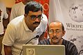 Sujay Chandra and Santanu Chandra - Presentation Session - Wikilearnopedia - Oxford Bookstore - Kolkata 2015-08-23 3666.JPG