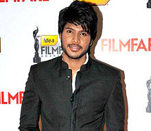 Sundeep Kishan at 60th South Filmfare Awards 2013 (cropped).jpg
