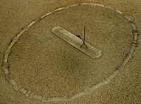 Sundial and noon mark at Brou Monastery (Bourg-en-Bresse).jpg
