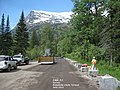 Survey at Avalanche Chute turnout, June 2013 (9240491272).jpg
