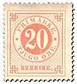 Swedish stamp 1872 20 Öre POST.054059.jpg