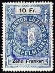Switzerland Lucerne 1897 revenue 6 10Fr - 66 - E 1 97.jpg