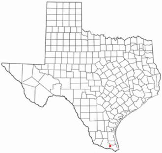Santa Rosa, Texas - Image: TX Map doton Santa Rosa