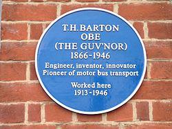 T h barton plaque