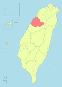 Taiwan ROC political division map Miaoli County.svg