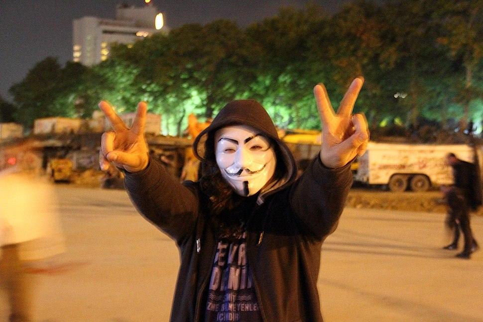 Taksim Square Guy Fawkes mask, 4 June 2013