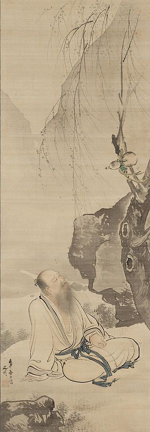 Tao Yuanming - Tao Yuanming Seated Under a Willow. Tani Bunchō, Japan, 1812