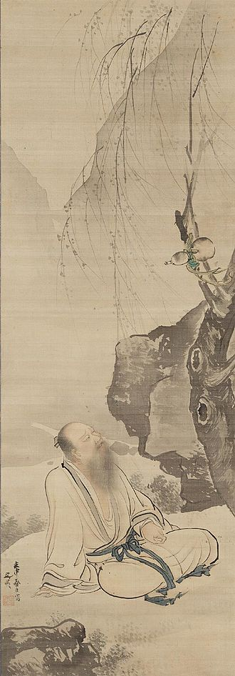 Tao Yuanming - Tao Yuanming Seated Under a Willow. Tani Bunchō, Japan, 1812