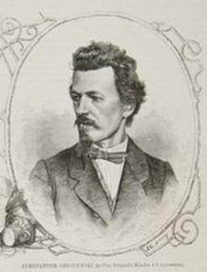 Aleksander Gryglewski - Aleksander Gryglewski; portrait by Franciszek Tegazzo from Tygodnik Ilustrowany (1868)