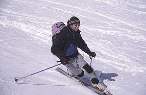 Skieur télémark
