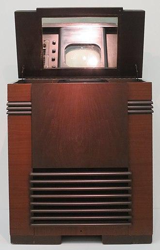 John Vassos - John Vassos designed RCA Victor TRK12 tv, first mass marketed tv by RCA, premiered at the 1939 New York World's Fair