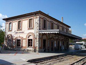 Sassari-Tempio-Palau railway - Railway station in Tempio Pausania