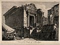 Temple of Aesculapius, Spalato (Split). Engraving by F. Bart Wellcome V0014506.jpg