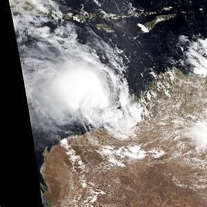 2000–01 Australian region cyclone season - Image: Terri jan 30 2001 0541Z