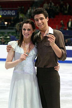 Tessa Virtue i Scott Moir na MŚ 2008